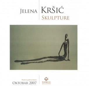 Jelena Kršić je rođena u Mariboru. Fakultet likovnih umetnosti, odsek vajarstva, završila je u Beogradu1993, u klasi profesora Nikole Koke Jankovića. Član ULUS-a od 1995. Živi i radi u Beogradu.