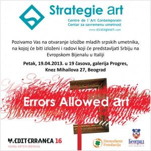 StrategieArt Errors Allowed pozivnica
