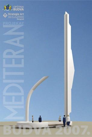 Interkulturalni projekat MEDITERAN, Strategie Art je pokrenuo 2005. godine pod pokroviteljstvom Ujedinjenih Nacija. Ovaj međunarodni projekat, do sada se realizovao kroz seriju izložbi, a jedan vid svoje realizacije pokazuje kroz skulpturu JEDRO, koju Strategie Art poklanja građanima Budve i njenim gostima .  Skulptura Jedro nalazi se na platou Trg Sunca ispred zgrade Opštine Budva.